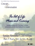 The Art of Life: Music and Knowing Concert and Conversation